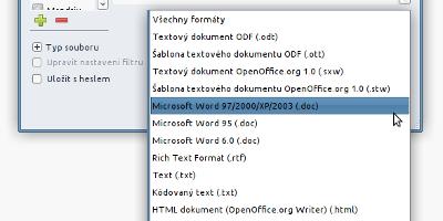 LibreOffice - možnosti ukládání dokumentů