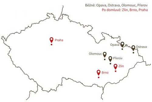 Mapa školení