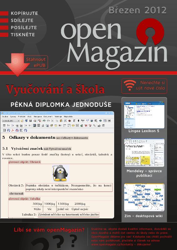 Kliknutím na obrázek stáhnete openMagazin 03/2012 v PDF