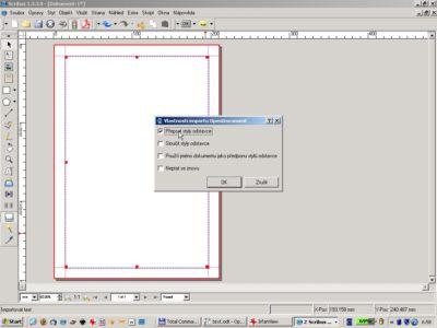 Nastavení vlastností importu dokumentu vytvořeného v OpenOffice.org do Scribusu