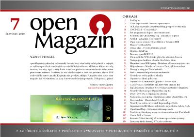 Klepnutím si stáhnete openMagazin 7/2010